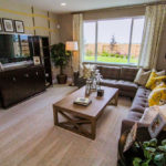 family room of typical Wichita Falls home with coffee table and sofa