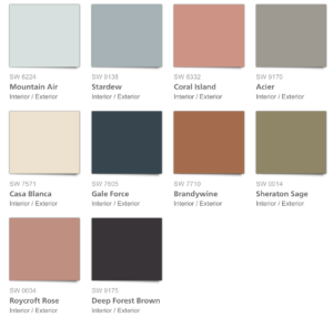 Sherwin Williams Holistic Color Pallet