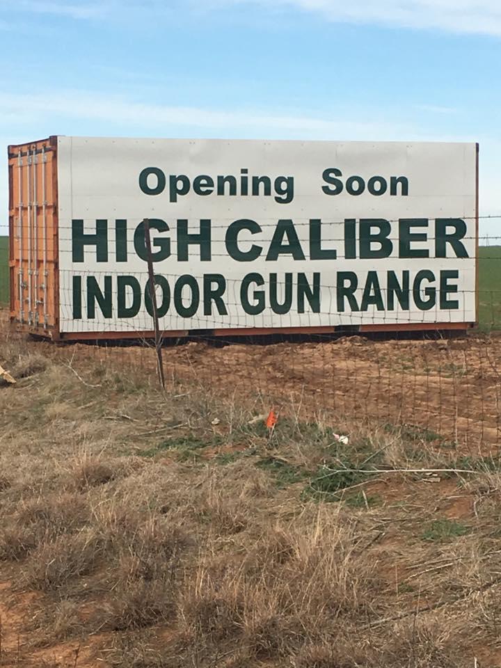 Picture of High Caliber Gun Range Sign