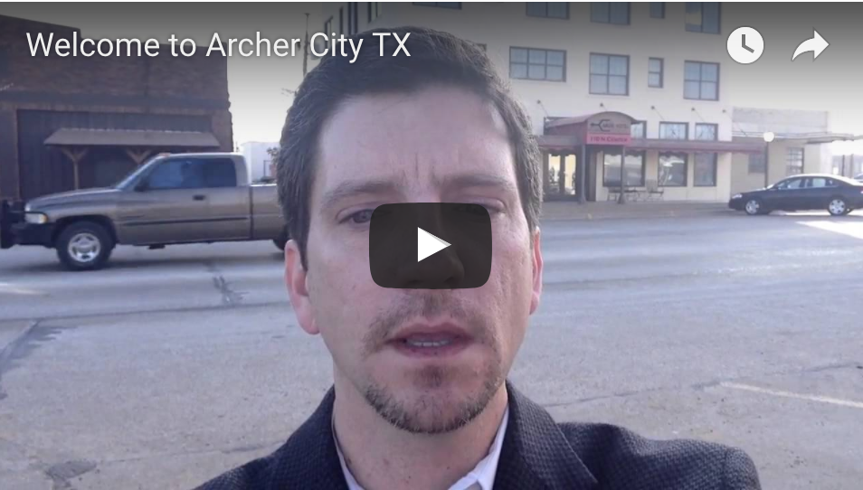 Image of Video by Tim Lockhart introducing Archer City Texas