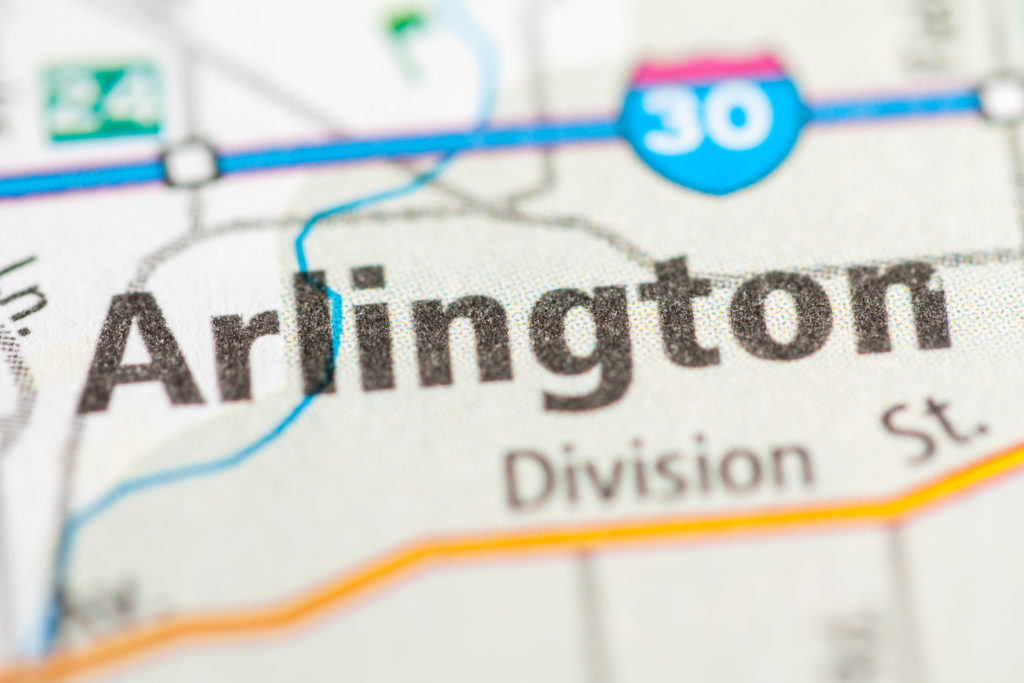 Image of Map of Arlington TX